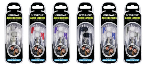 Xtreme XT-XEB90101AST Noise Isolation In-Ear Audio Earbuds