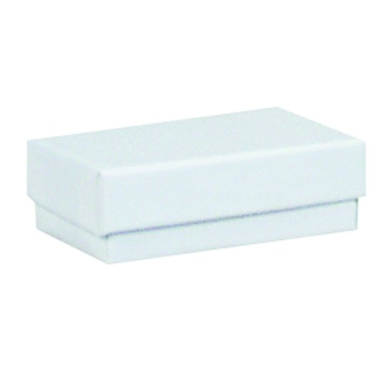 "M&M EWJB21 White Cotton Filled Box 2 1/2"" x 1 1/2"" x 7/8"""