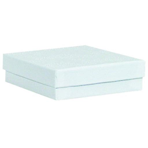 "M&M EWJB33 White Cotton Filled Box 3 1/2""  x 3 1/2"" x 1"""