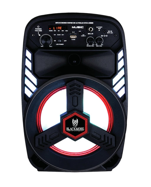 Blackmore BJS-218 8in 800W Bluetooth Rechargeable Portable Speaker
