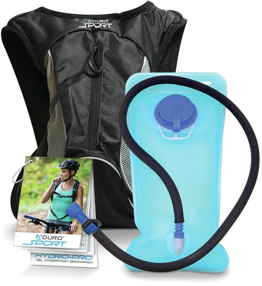 Aduro S-HYBK-01 1.5 Liter Hydration Backpack Hydro-Pro Black
