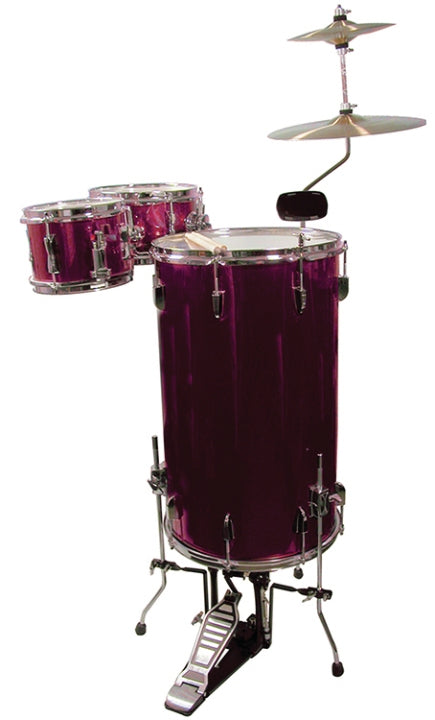 GP Percussion Cocktail Drum Set Wine Red