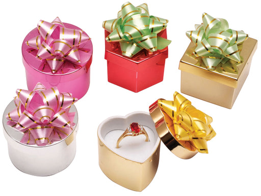 M&M HB2489 Metallic Assorted Hat Boxes - 48 Per Box