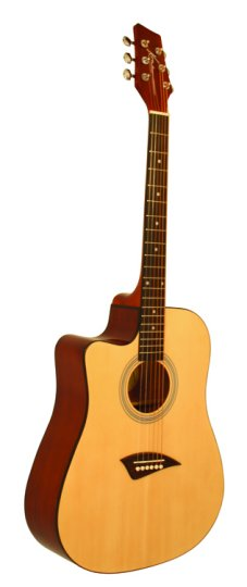 K1 Series Left Handed Acoustic Dreadnought Cutaway Guitar