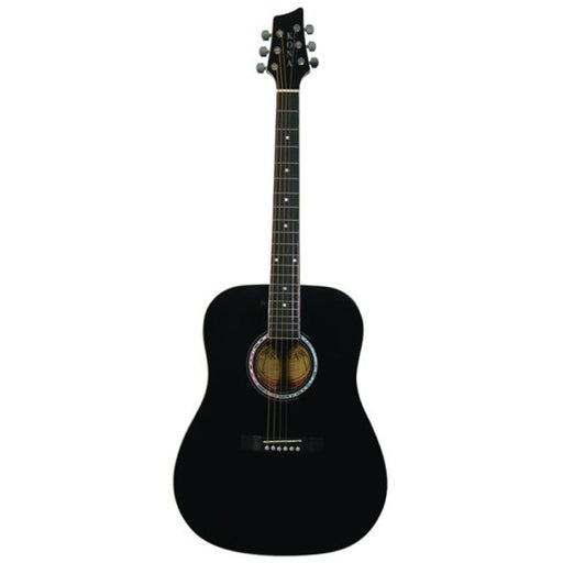 Kona Dreadnought Acoustic Guitar in Black