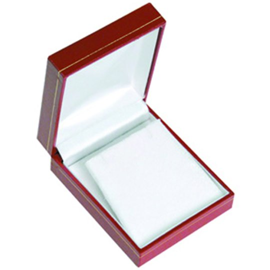 M&M LRED7 Faux Leather Earring Pendant Box - Red