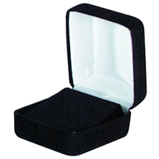 M&M MFE01B Velour Earring Box- Black 12 per Box