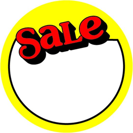 "2"" Yellow & Red Sale Labels"