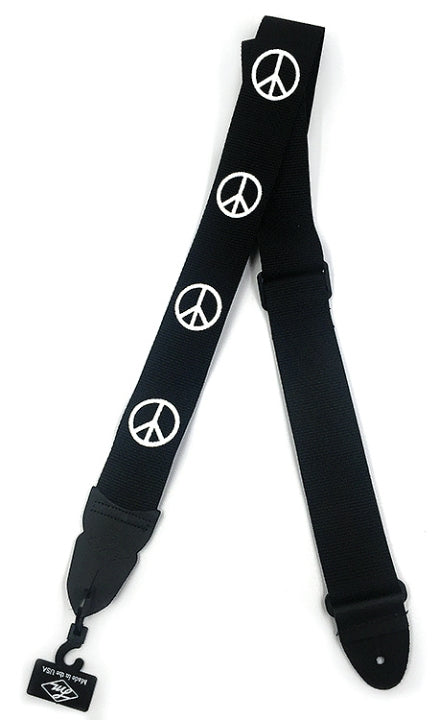 "LM PS4M 2"" Nylon ""Peace Sign"" Guitar Strap"