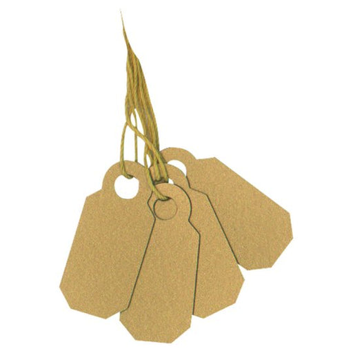Gold Arch Crown String Tag