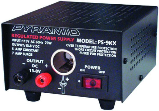 Pyramid 5 Amp Power Supply with Cigarette Plug