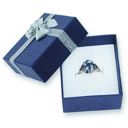 M&M PSJ00 Blue Bowtie Single Ring Box