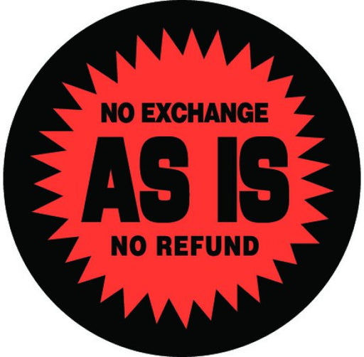 "2"" ""No Exchange As Is"" Sticker"