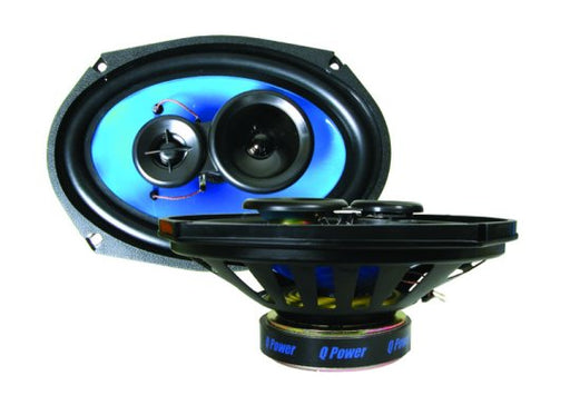 "Q Power 6"" x 9"" 700 Watt Coaxial Speaker"