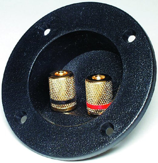 Round Mount Gold-Plated Speaker Binding Post