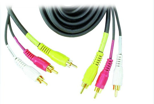 RCA Stereo DVD Dubbing Cable 5 Ft