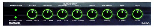 SSL 4 Band Graphic Equalizer with Subwoofer Output