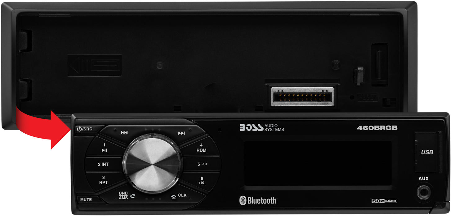 460BRGB Boss Elite Single-Din Bluetooth Mechless MP3 RGB Receiver