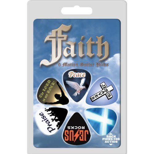 1FAITHRCS Hot Picks Faith Collectible Guitar Picks 6 Pack