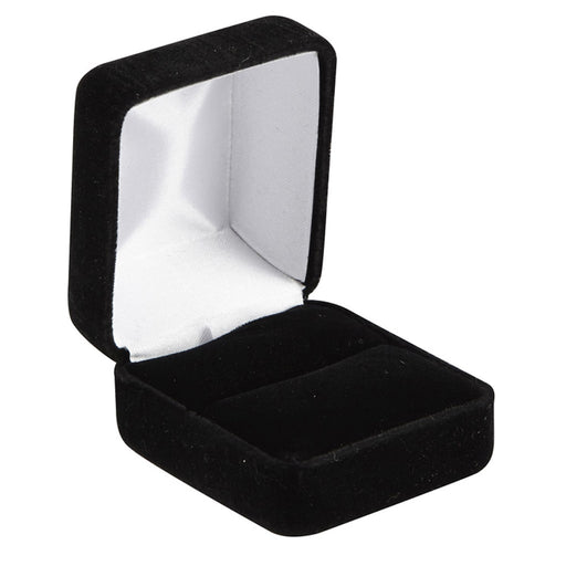 M&M 570300 Black Velvet Ring Box - 12 Per Box