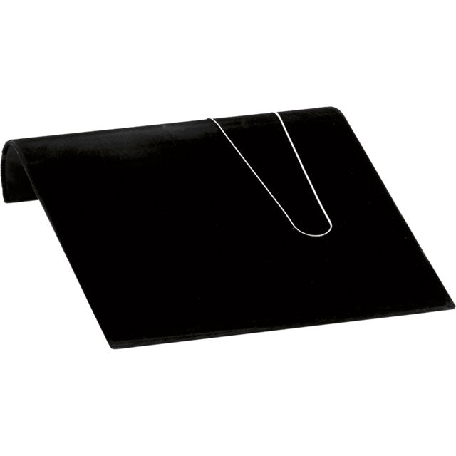 "M&M 61-0354  Necklace Ramp Black Velvet 10"" x 10"" x 2-1/8"""