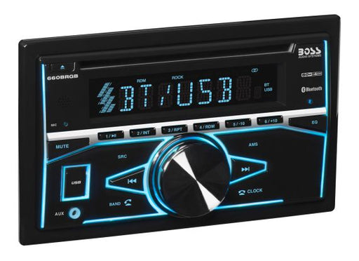 660BRGB Boss Elite Double-Din, CD/MP3 Bluetooth RGB Receiver