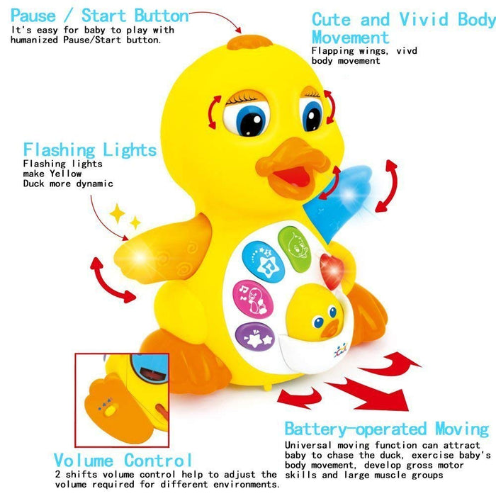 PS80 Musical Flapping Duck Educational Toy