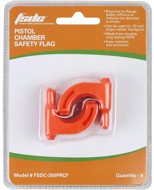 350PRCF Pistol Chamber Flag 6 pc Clamshell Resale Pack