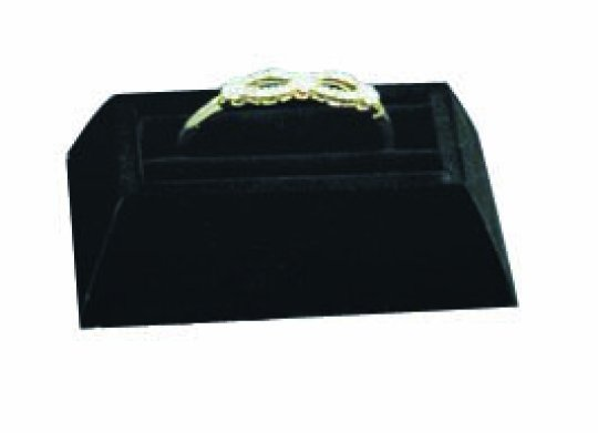 M&M 4010l-BK Velvet Slotted 1 Bangle Bracelet Display - Black