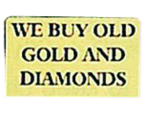 "Gold Sign ""We Buy Gold And Diamonds"""