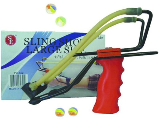 Large Size Sling Shot with 4 Plastic Balls
