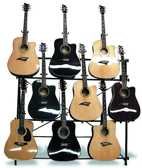 9 Guitar Display Rack