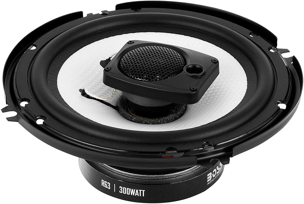 Boss Riot 6.5 in 3 Way Speaker System Pair With Grills