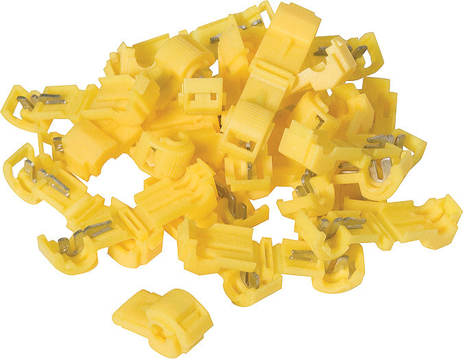1079 Wire Tap 12 AWG 0.250 in Yellow 100 Pack