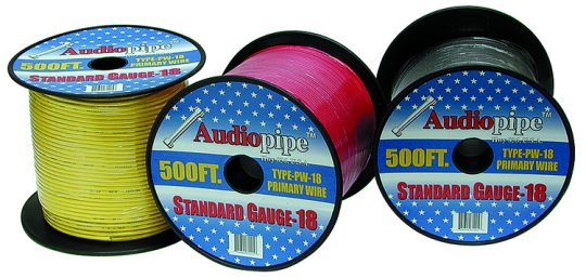 Audiopipe 500' Blue 18 Gauge Remote Cable