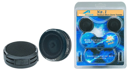 "Power Acoustik 1"" Multi-Mount Micro Dome Tweeters"