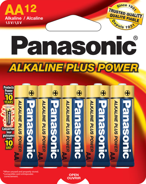 AM3PA12B Panasonic Alkaline 12 Pack AA Cell Batteries