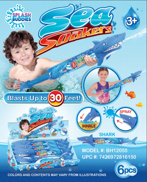 BH12055 Shark Water Blaster 24in Soaker Blue