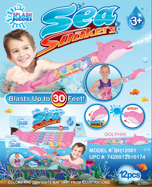 BH12061 Dolphin Water Blaster 20in Soaker Pink