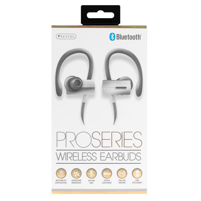 Sentry BT996   Pro Series Wrap Around Earbuds - White