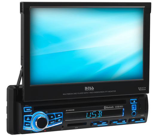 BV860B Boss Elite Single Din 7in Bluetooth Motorized DVD CD AM FM USB Receiver