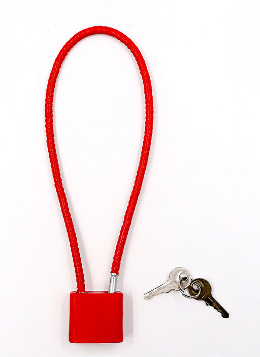 8 inch Cable Gun Lock - Firearm Handgun or Rifle - Red