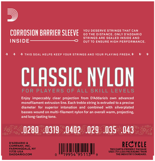 EJ27N D'Addario Nylon String Normal Tension