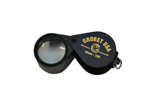 EL967 10x 18mm Black Jewelers Loupe with Case