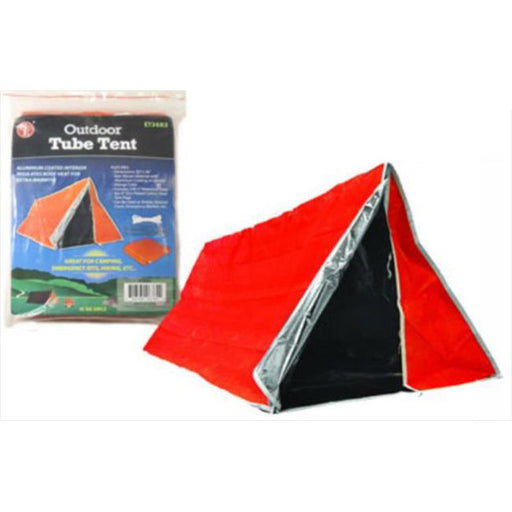 ET3683 Heavy Duty Aluminum Coated Interior Emergency Tube Tent 82x36 inch