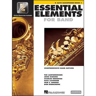 862572 Hal Leonard Essential Elements for Band – Eb Alto Saxophone Book 1 with EEi