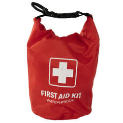 FA100-EA 100 Piece First Aid Kit in Red Dry Sack