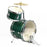 "GP50G GP Percussion 16"" 3 Piece Junior Drum Set (Green)"