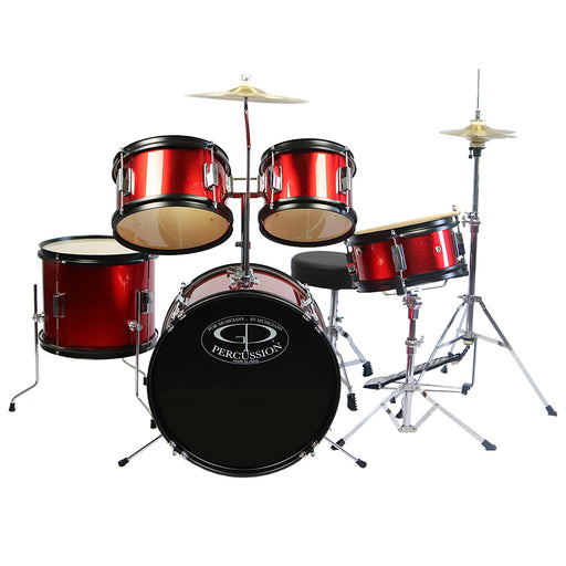 GP55RD GP Percussion 5-Piece Junior Drum Set (Red)
