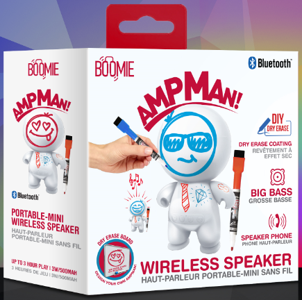 GT-14422 Ampman with Markers Boomie Bluetooth Speaker